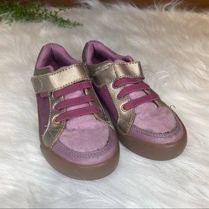 Pediped Dani Grip n Go Dusty Rose Sneaker 11-11.5M